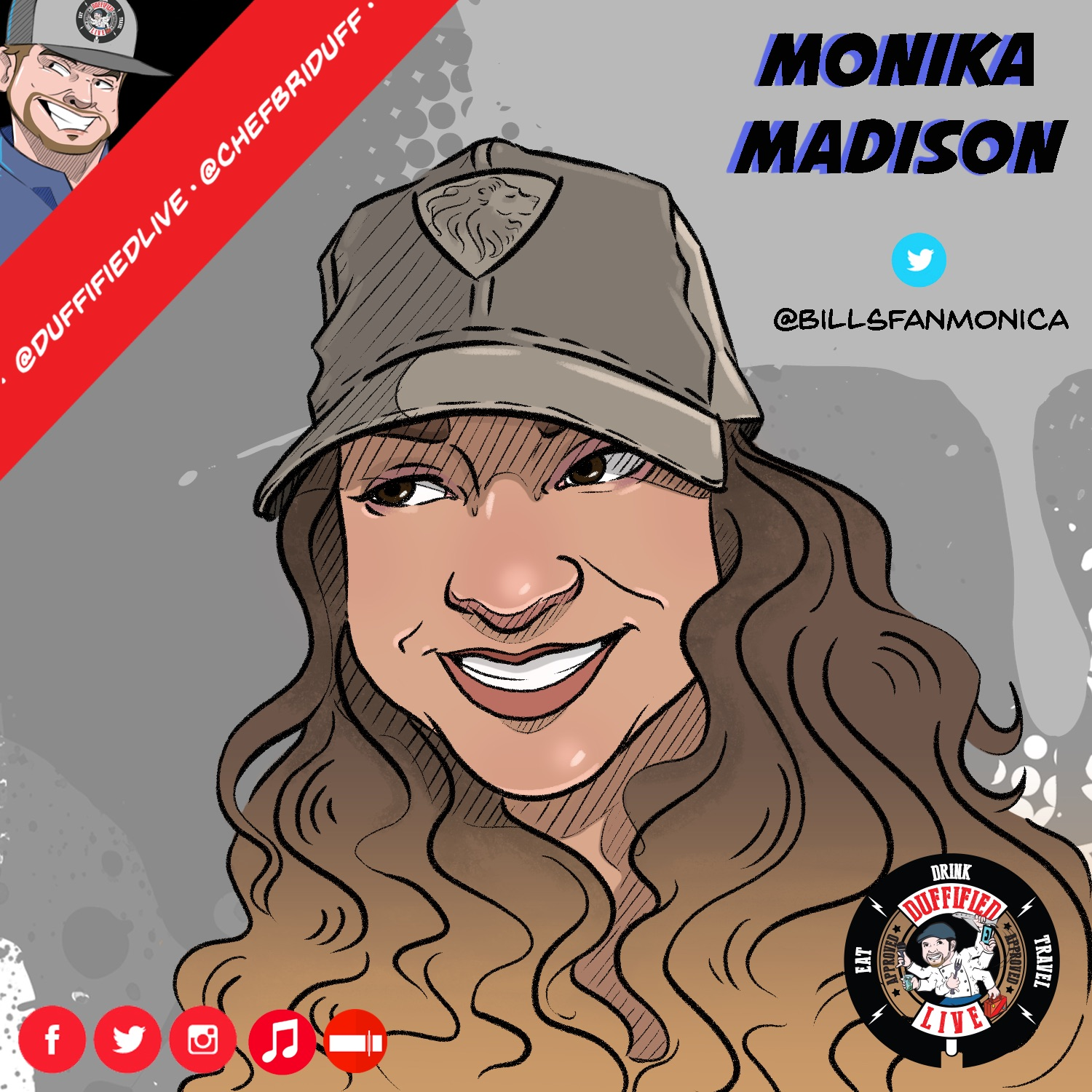 Duffified Live With Chef Brian Duffy Monika Madison Of 102 5 The Bone